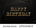 vintage happy birthday greeting ... | Shutterstock .eps vector #1393104815