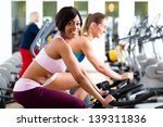 women in the gym on fitness... | Shutterstock . vector #139311836