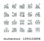farming landscape line icons.... | Shutterstock . vector #1393123898