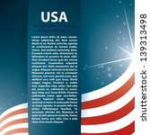 usa flag stars and text... | Shutterstock .eps vector #139313498