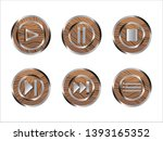 set of wooden ui buttons. ui...