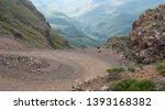 the sani pass  winding dirt... | Shutterstock . vector #1393168382