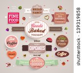 set of retro bakery labels ... | Shutterstock .eps vector #139319858