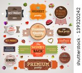 set of vector retro ribbons ... | Shutterstock .eps vector #139320242