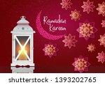 lantern for holiday  garden  on ... | Shutterstock .eps vector #1393202765