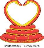 illustration  two lovers snake
