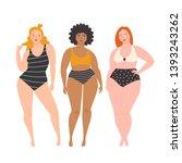 body positive girls. vector...   Shutterstock .eps vector #1393243262