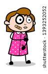 funny injured female face  ...   Shutterstock .eps vector #1393252052