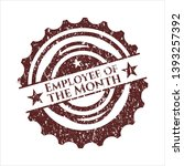 red employee of the month...   Shutterstock .eps vector #1393257392