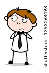 scared   office salesman... | Shutterstock .eps vector #1393268498