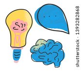 cognitive science concept. set... | Shutterstock .eps vector #1393282868