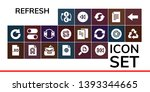 refresh icon set. 19 filled... | Shutterstock .eps vector #1393344665