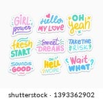 positive social media stickers... | Shutterstock .eps vector #1393362902