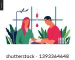 medical tests illustration  ... | Shutterstock .eps vector #1393364648