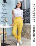 beautiful sexy woman wear... | Shutterstock . vector #1393371242