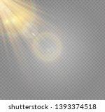 vector transparent sunlight... | Shutterstock .eps vector #1393374518