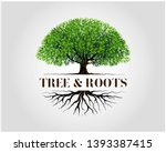 tree and roots logo design... | Shutterstock .eps vector #1393387415