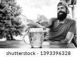 enjoying non alcoholic beer.... | Shutterstock . vector #1393396328