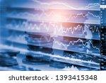 stock market or forex trading... | Shutterstock . vector #1393415348