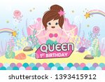 party backdrop with cute little ... | Shutterstock .eps vector #1393415912
