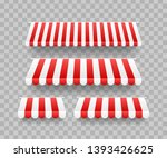 colored striped awnings set for ... | Shutterstock .eps vector #1393426625