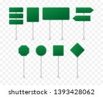 set of road signs isolated on... | Shutterstock .eps vector #1393428062