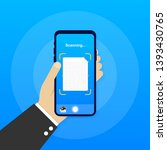 text scan. document scanner... | Shutterstock .eps vector #1393430765