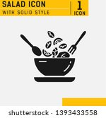 salad solid icon. food dish... | Shutterstock .eps vector #1393433558