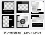 six set editable minimal square ... | Shutterstock .eps vector #1393442405
