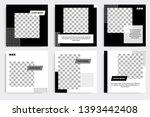 six set editable minimal square ... | Shutterstock .eps vector #1393442408