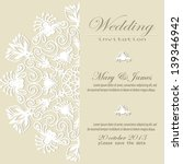 wedding invitation. lacy white... | Shutterstock .eps vector #139346942