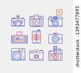 simple set of retro camera... | Shutterstock .eps vector #1393477895