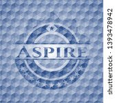 aspire blue badge with... | Shutterstock .eps vector #1393478942