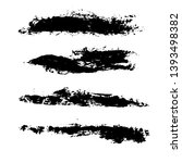 ink vector brush strokes... | Shutterstock .eps vector #1393498382