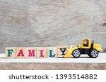 Toy Bulldozer Hold Letter Block ...