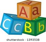 children's 3d alphabet cubes...   Shutterstock .eps vector #1393538
