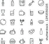 thin line vector icon set   mug ...   Shutterstock .eps vector #1393550105