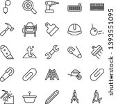 thin line vector icon set  ... | Shutterstock .eps vector #1393551095