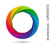 colorful camera shutter... | Shutterstock .eps vector #139355372