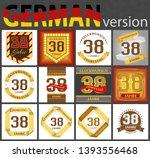 german set of number thirty... | Shutterstock .eps vector #1393556468