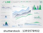 line charts and area charts... | Shutterstock .eps vector #1393578902