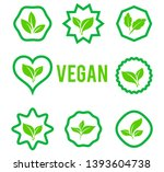 leaves icon vector set isolated ... | Shutterstock .eps vector #1393604738