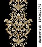 golden elements in baroque ... | Shutterstock . vector #1393611272