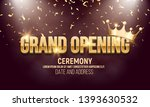grand opening banner with crown ... | Shutterstock .eps vector #1393630532