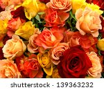 A Bouquet Of Multicolored Rose...