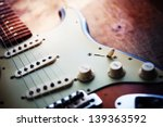 electric guitar  on a grungy... | Shutterstock . vector #139363592