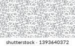 flower pattern. seamless white...   Shutterstock . vector #1393640372
