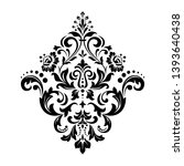 damask graphic ornament. floral ... | Shutterstock . vector #1393640438