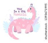 Pink Dinosaur Brontosaurus With ...