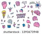 cognitive science concept. set... | Shutterstock .eps vector #1393673948